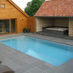 Isostone zwembad met rolluik